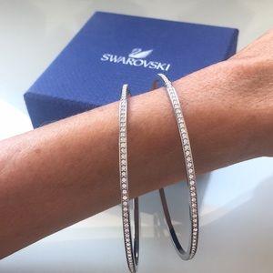 SWAROVSKI Bangle Bracelets with Pave' crystals